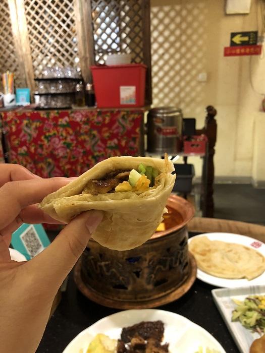 北京料理のクレープ