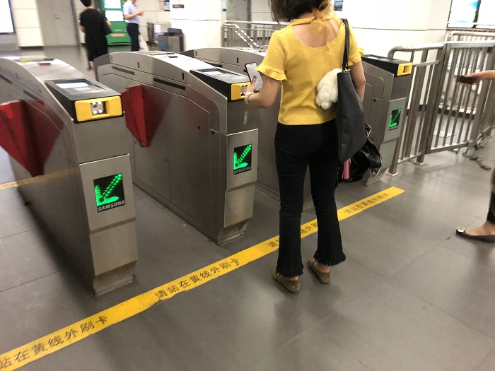 北京の地下鉄の入場ゲート