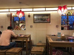 北京のレストランの座席
