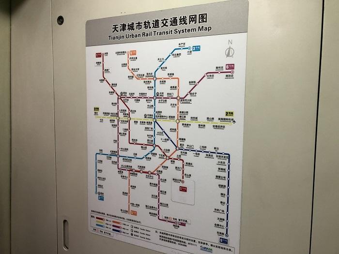 天津のメトロマップ